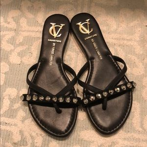 Vince Camuto black sandals size 6.5 as new